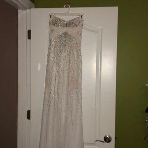 White Riva Designs prom dress